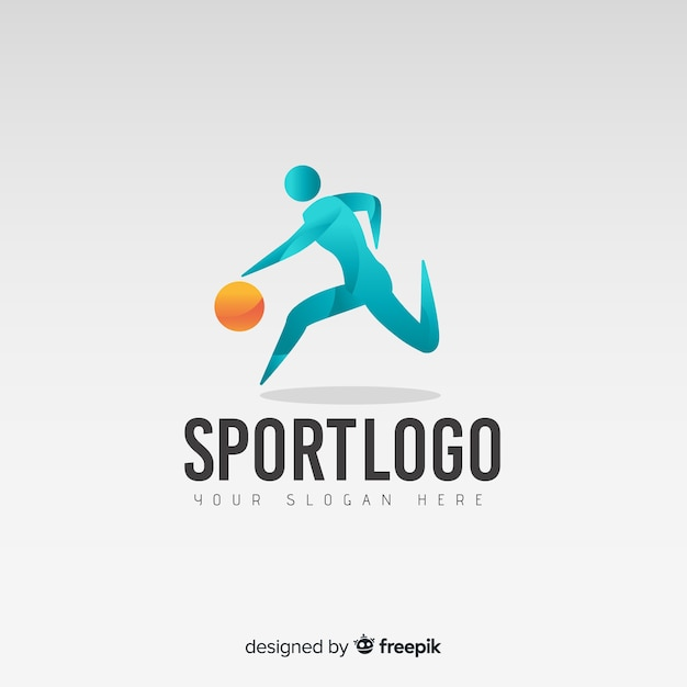 Abstracte basketbal logo of logo sjabloon Gratis Vector