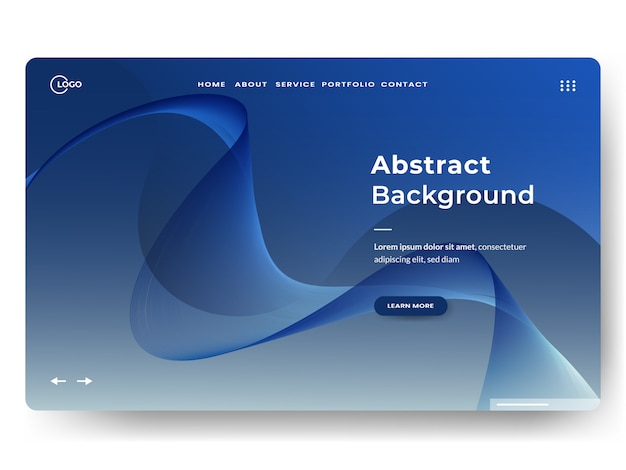 Abstracte bestemmingspagina's Premium Vector