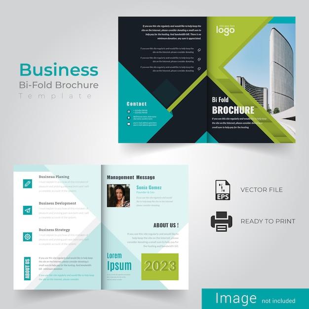 Abstracte bi-vouwbrochure Premium Vector