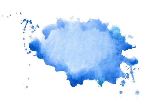 Abstracte blauwe aquarel handgeschilderde textuur achtergrond Gratis Vector