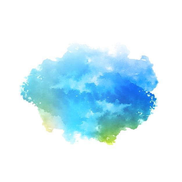 Abstracte blauwe aquarel splash ontwerp achtergrond Gratis Vector