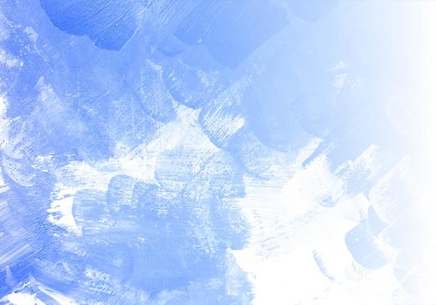 Abstracte blauwe aquarel textuur achtergrond Gratis Vector