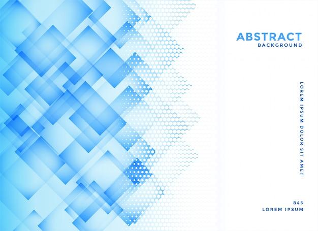 Abstracte blauwe diagonale vierkantenvector als achtergrond Gratis Vector