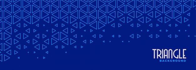Abstracte blauwe driehoek lijn patroon banner ontwerp Gratis Vector