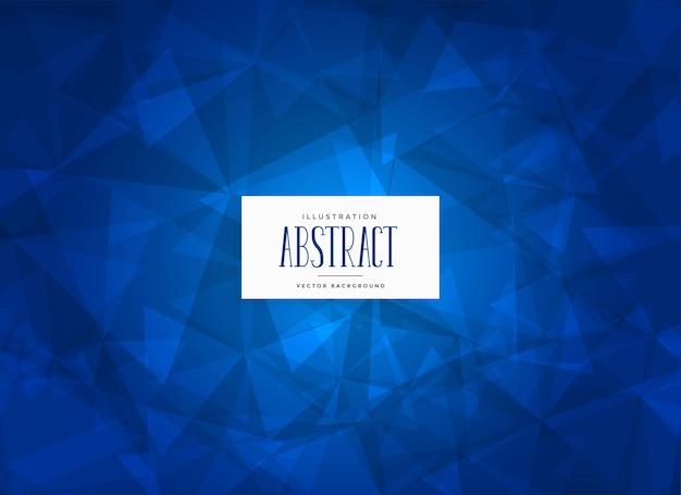 Abstracte blauwe driehoeken vorm achtergrond Gratis Vector