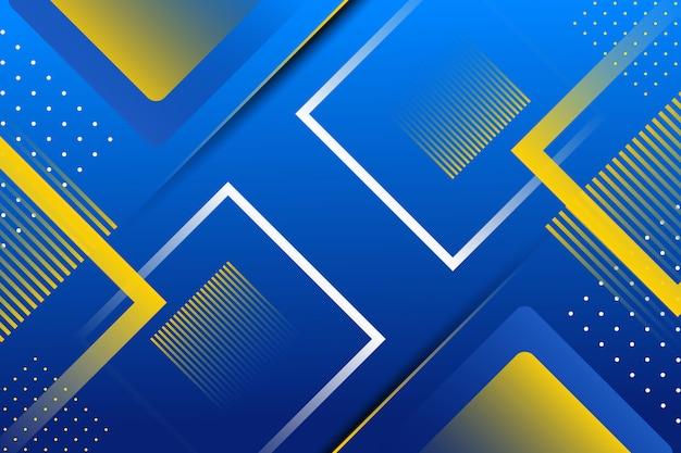 Abstracte blauwe geometrische vormachtergrond Premium Vector