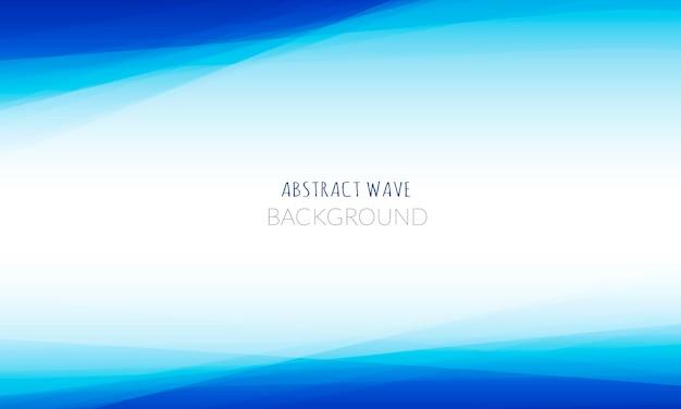 Abstracte blauwe golfachtergrond Gratis Vector