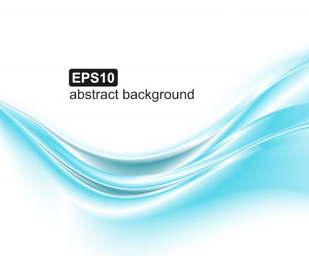 Abstracte blauwe golvenachtergrond. Premium Vector