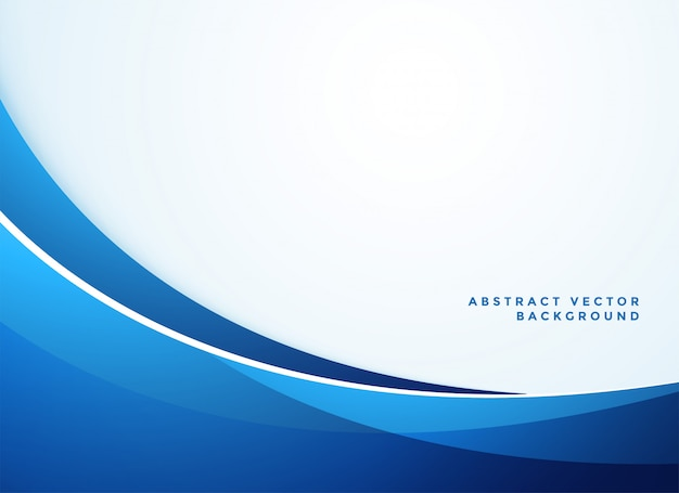 Abstracte blauwe golvende zakelijke stijlachtergrond Gratis Vector
