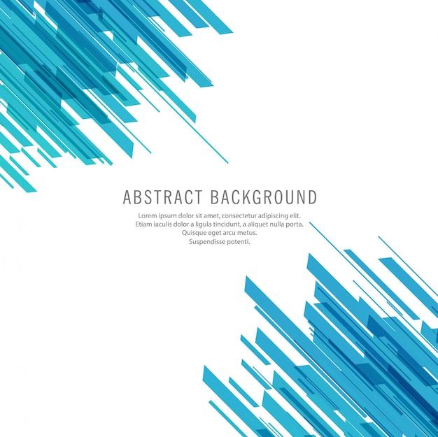 Abstracte blauwe lijnen technische achtergrond Gratis Vector