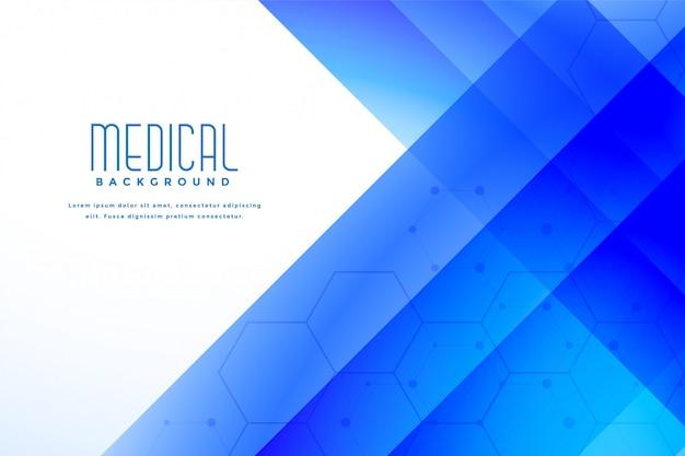 Abstracte blauwe medische gezondheidszorgachtergrond Gratis Vector