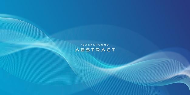Abstracte blauwe moderne golvende lijnenachtergrond Premium Vector
