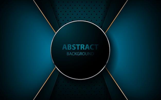 Abstracte blauwe pijl op donkerblauwe achtergrond Premium Vector