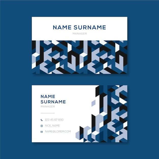 Abstracte blauwe stijl voor sjabloon voor visitekaartjes Gratis Vector