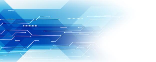 Abstracte blauwe technologie communicatie concepten vectorachtergrond Premium Vector