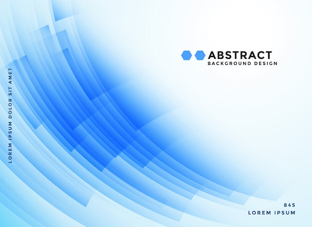 Abstracte blauwe vormen presentatie achtergrond Gratis Vector