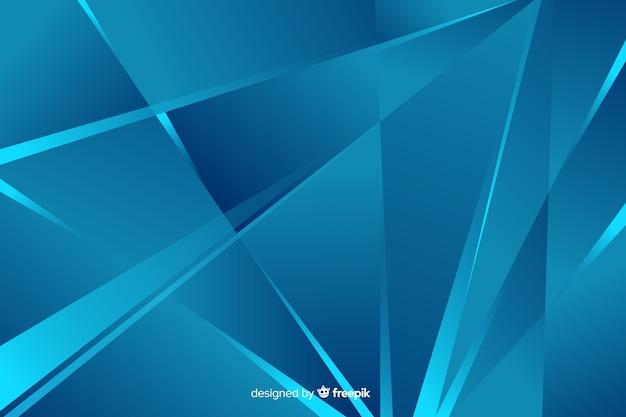 Abstracte blauwe vormenstijl als achtergrond Gratis Vector