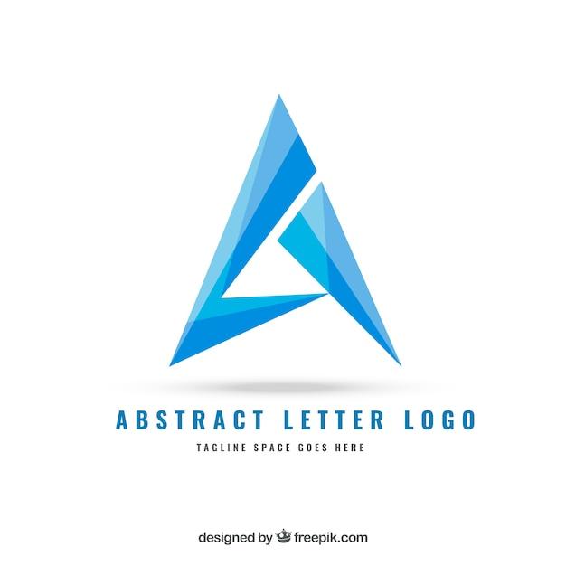 Abstracte brief logo Gratis Vector