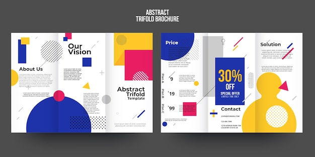 Abstracte brochure sjabloon concept Gratis Vector