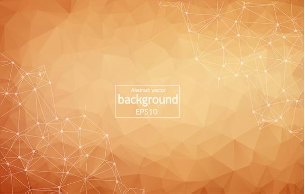 Abstracte bruine geometrische veelhoekige achtergrond Premium Vector