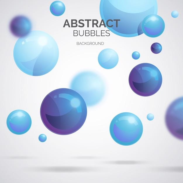 Abstracte bubbels achtergrond Gratis Vector