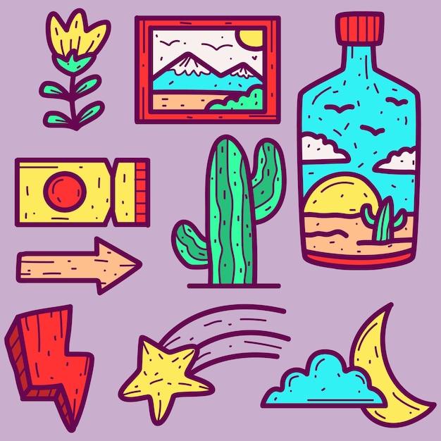 Abstracte cartoon doodle Premium Vector