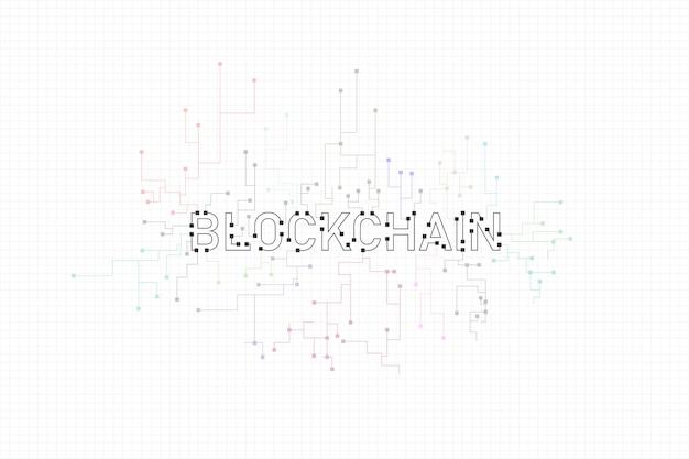 Abstracte circuit netwerken blockchain concept achtergrond Premium Vector