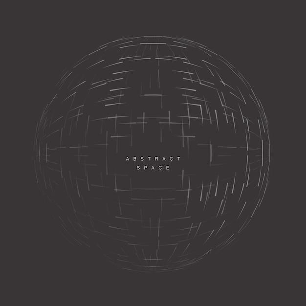 Abstracte cirkel 3d in lege ruimte futuristische vorm Premium Vector