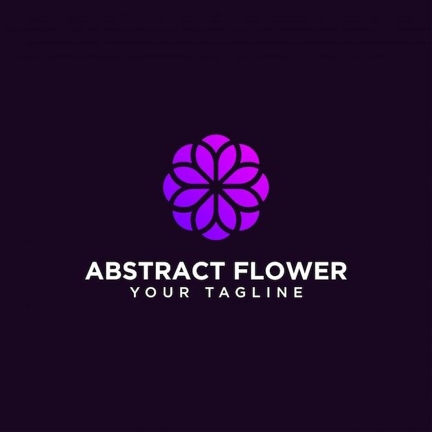 Abstracte cirkel bloem logo ontwerpsjabloon Premium Vector
