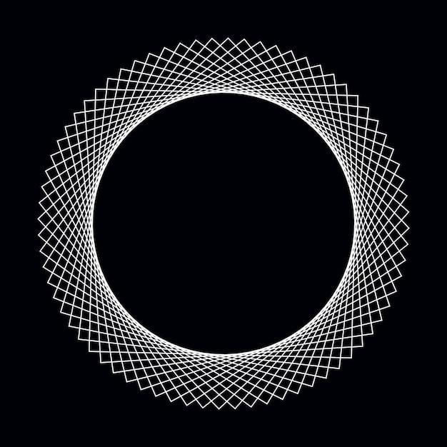 Abstracte cirkel geometrische elementvector Gratis Vector