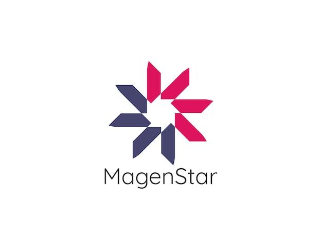 Abstracte cirkel ster logo sjabloon Premium Vector