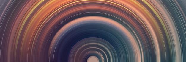 Abstracte cirkelachtergrond met gloeiende lijnen Premium Vector