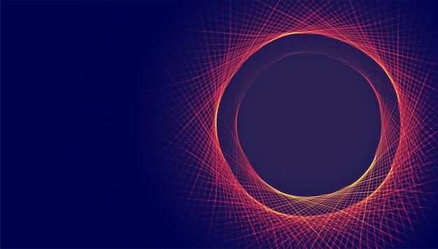 Abstracte cirkelvormige lijnen frame achtergrond met tekst ruimte Gratis Vector