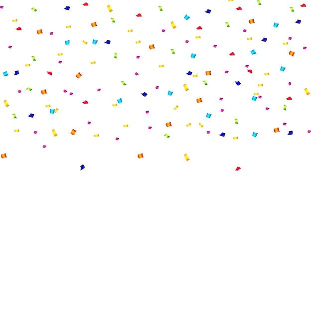 Abstracte confetti achtergrond met polka dot confetti. Premium Vector