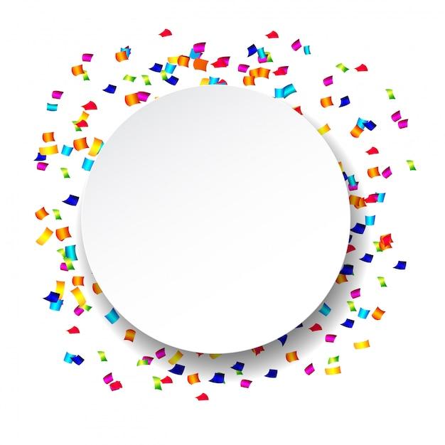 Abstracte confetti met polka dot confetti. Premium Vector