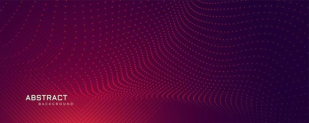 Abstracte deeltjespunten achtergrondbanner Gratis Vector