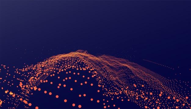 Abstracte digitale deeltjes technologie stijl achtergrond Gratis Vector