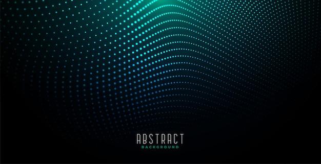 Abstracte digitale deeltjesachtergrond met gloeiend licht Gratis Vector