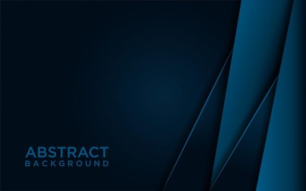 Abstracte donkerblauwe achtergrond premi Premium Vector