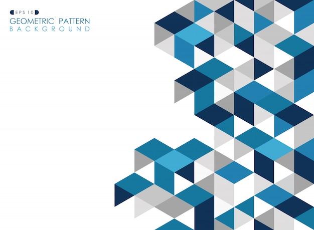 Abstracte donkerblauwe geometrische achtergrond Premium Vector