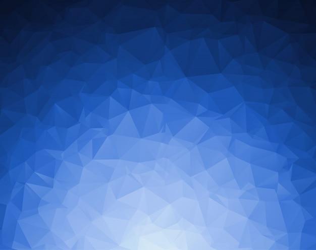 Abstracte donkerblauwe veelhoekige illustratie, die uit driehoeken bestaat. Premium Vector