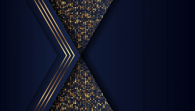Abstracte donkerblauwe vorm met overlappingsachtergrond Premium Vector