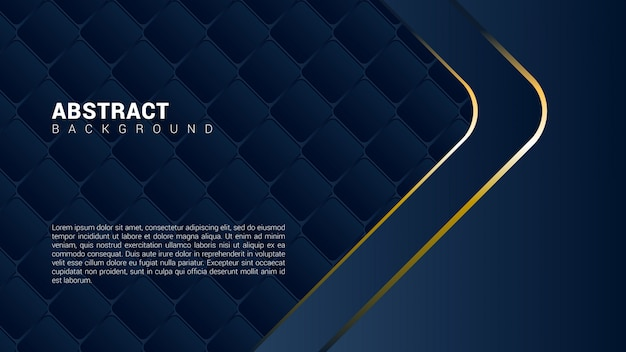 Abstracte donkere achtergrond met gouden lijnen Premium Vector