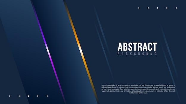 Abstracte donkere achtergrond met verlooplijnen Premium Vector