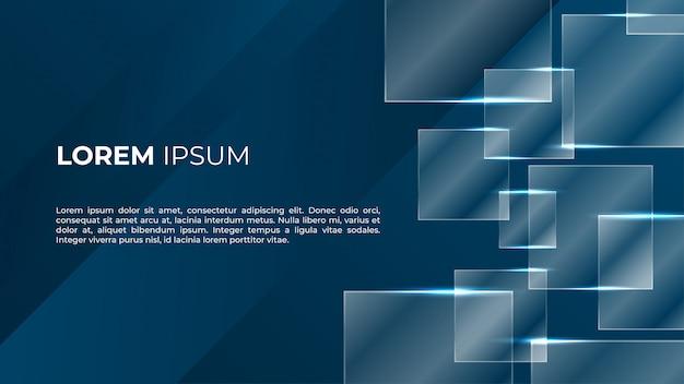 Abstracte donkere glanzende glazen achtergrond Premium Vector