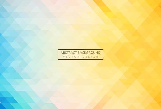 Abstracte driehoek patroon kleurrijke achtergrond Gratis Vector