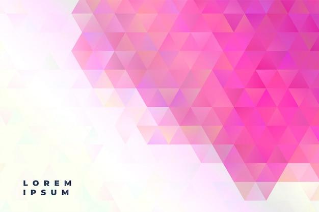 Abstracte driehoeken presentatie banner Gratis Vector
