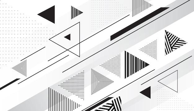 Abstracte driehoekige achtergrond Gratis Vector