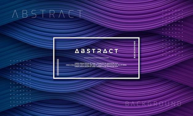 Abstracte, dynamische en gestructureerde paarse en donkerblauwe achtergrond Premium Vector