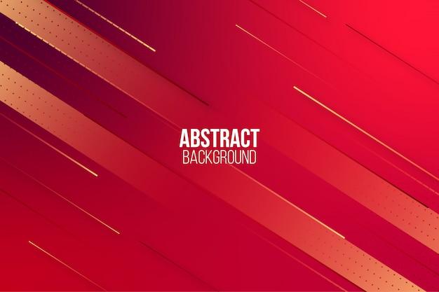 Abstracte dynamische rode achtergrond met kleurovergang Premium Vector